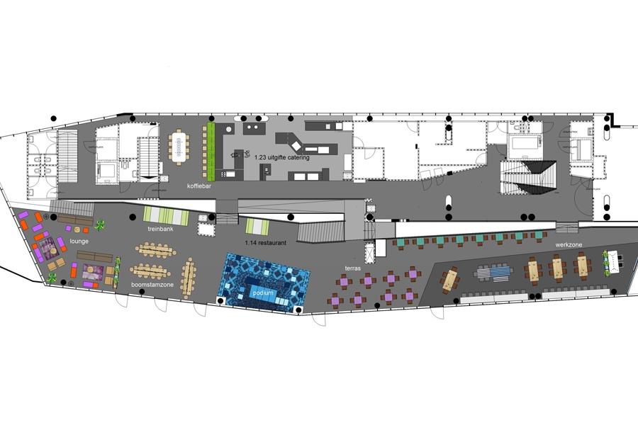 grib Alfa-college Bouma plattegrond