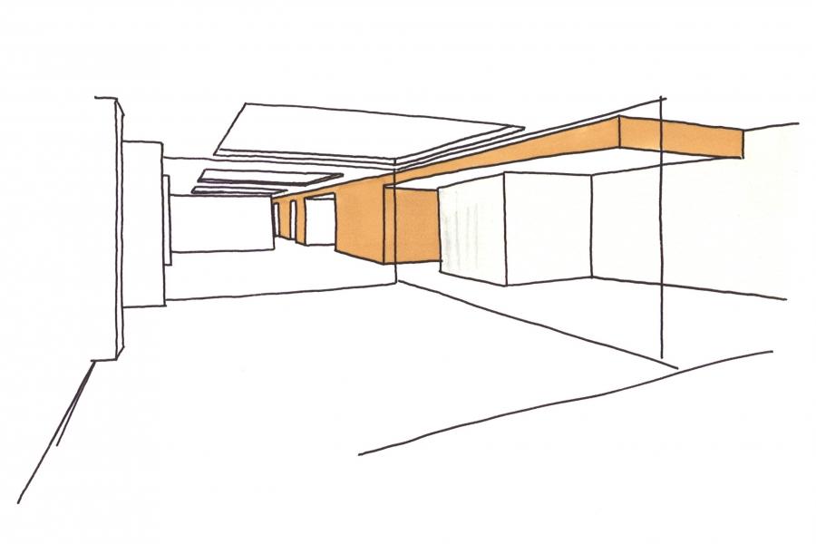 grib appartement Amsterdam concept schets