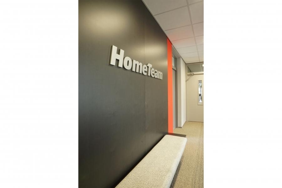 grib kantoor HomeTeam bank entree