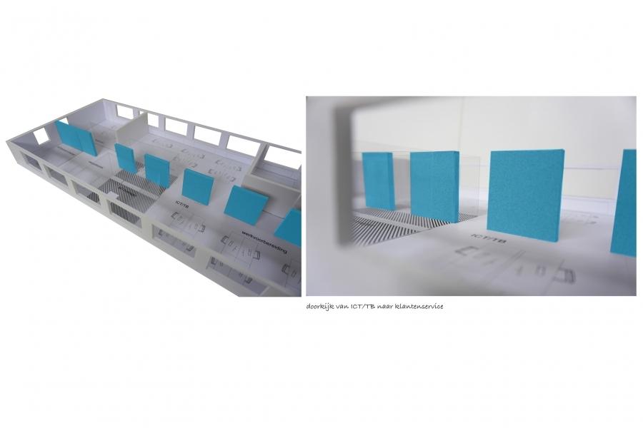 grib kantoor HomeTeam concept maquette doorzicht